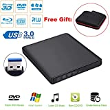 Guamar External Blue-Ray Drive,USB 3.0 Aluminum Blu-Ray Drive CD/DVD Burner/Writer with 3D Blu-ray