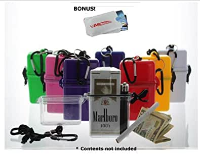 Waterproof Cigarette Case, with BIC Lighter - YELLOW & Bonus RFID Protection!