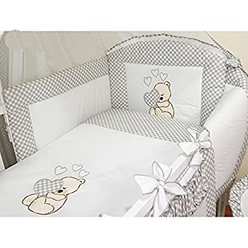 Lovely 5 pcs BABY BEDDING SET//BUMPER//PILLOWCASE//DUVET Cover to fit cot//cot bed