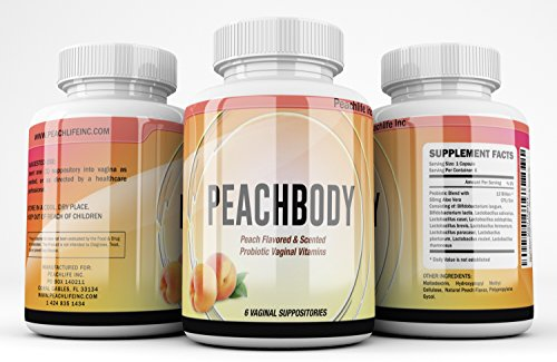 Natural Peach Flavored & Scented Probiotic Vaginal Vitamin Suppositories - 72 Billion Live CFU - 11 Probiotic Strains - 1 Month Supply - EXPERT SCIENCE EXTRA STRENGTH By Peachlife Inc
