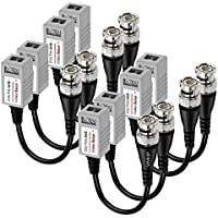 VIMVIP HD CCTV Via Twisted Video Balun Transmitter Transceiver for CVI/TVI/AHD CCTV System Pack of 4 Pairs 8 Pieces