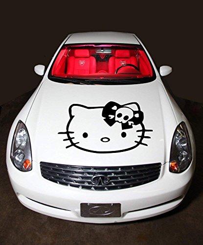 hello kitty car hood decal - 3