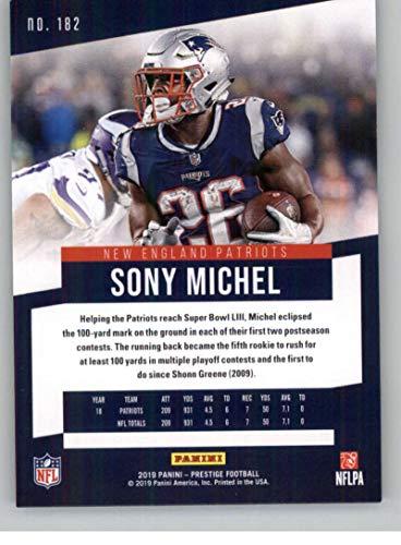 online store fce6a 5d408 Amazon.com: 2019 Prestige NFL #182 Sony Michel New England ...