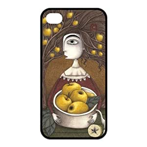 iPhone 4S Case, Fairy Wonderland,Escape Into The Fancy world Shell Durable TPU Hard Back Case Cover for Apple iPhone 4/4S