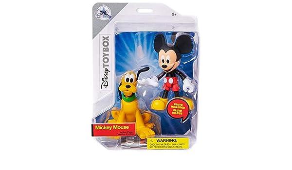 Disney Caja de Juguetes Mickey Ratón y Plutón Acción Figura: Amazon.es: Juguetes y juegos