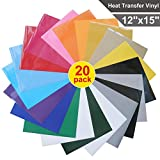 #7: Heat Transfer Vinyl for T-Shirts , 20 Pack - 12