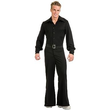 e3d792b92c43 Amazon.com  Studio Disco Jumpsuit Adult Costume Black - X-Large  Clothing