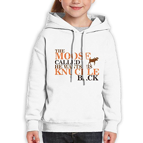 Price comparison product image AZBABY Moose Called & Wants His Knuckle Back - Hilarious Unisex Teenage Long Sleeve Pullover Hoodie Sweatshirts
