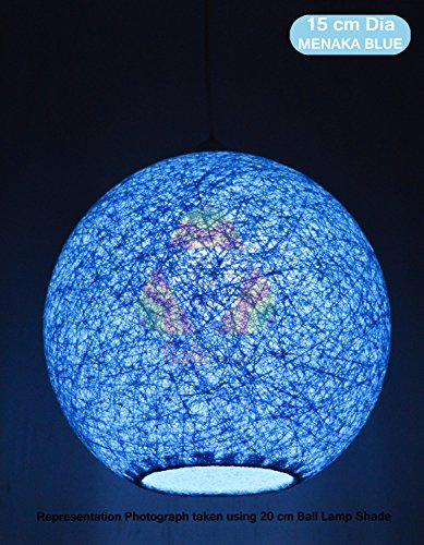 Buy salebrations 15 cm dia menaka blue hanging ball lamp shade with buy salebrations 15 cm dia menaka blue hanging ball lamp shade with yarn and led bulb online at low prices in india amazon aloadofball Images