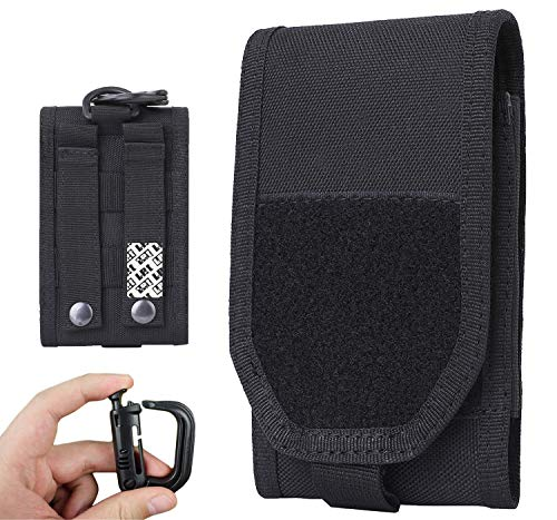 LefRight EDC Tactical Military Nylon Molle Flip Mobile Cell Phone Holster Belt Pouch