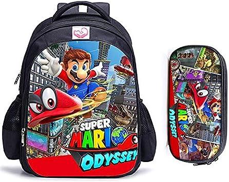 YangQian Mochila Sonic 2 Unids / Set 16 Pulgadas Mario Bros Sonic Mochilas Escolares para Niños Mochila Ortopédica Niños Escolares Niñas Mochila Infantil Dibujos Animados: Amazon.es: Juguetes y juegos