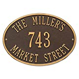 Orvis Traditional Oval Address Plaque/Only House, Black