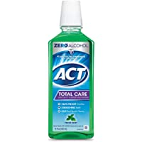 ACT Total Care Rinse Mouthwash Fresh Mint 18 Fl Oz (Pack of 1) Anticavity Fluoride Mouthwash Helps Support Tooth…