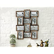 DDJ Frames Large Puzzle Style 9 4x6 Wall Hanging Collage Picture Frame, Fits Standard 4x6 Inch Photos, 9 Opening, Perfect Photo Frame for Family Pictures. Collage and Multiple Opening Frames , A