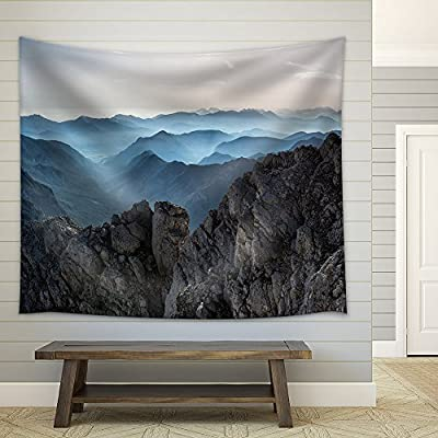 Created By a Professional Artist, Elegant Object of Art, Rock Mountain Fabric Wall