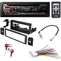 CAR CD STEREO RECEIVER DASH INSTALL MOUNTING KIT + WIRE HARNESS FOR CADILLAC CHEVROLET GMC 1995- 2005