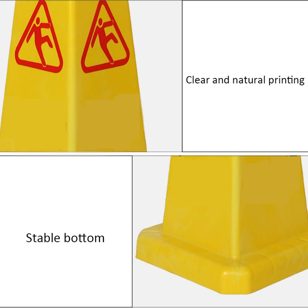 Color : 1 packs, Size : 67cm Work Safety Equipment Plastic Roadblock Cone Parking Pile Reflective Cone Warning Cone Road Cone Barrier Column Yellow Safety Cones
