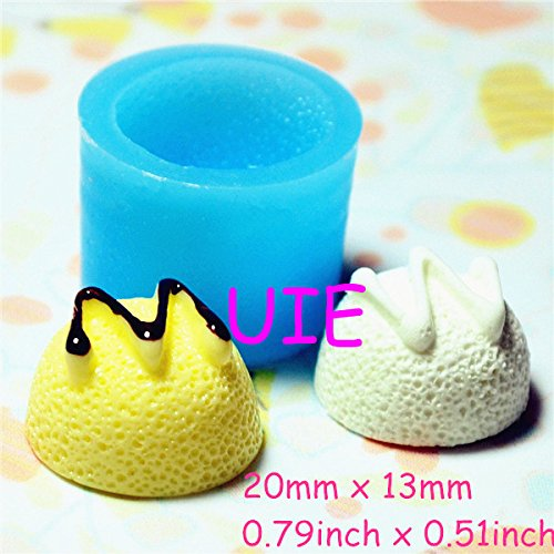 (048LBX Yummy Swirl Ice Cream Scoop Silicone Mold Mini Sweets Kitsch Jewelry Charms Fimo Polymer Clay Mold)