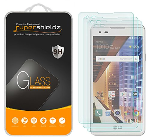 [3-Pack] Supershieldz for LG 'Tribute HD' Tempered Glass Screen Protector, Anti-Scratch, Anti-Fingerprint, Bubble Free, Lifetime Replacement Warranty