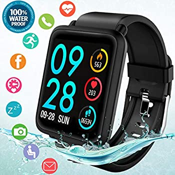 Amazon.com: Smart Watch, Waterproof Smartwatch for Android ...