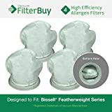 4 - Bissell Featherweight Filters, Part # 32019. Designed by FilterBuy to fit ALL Bissell Featherweight Lightweight Stick Vacuum Cleaners
