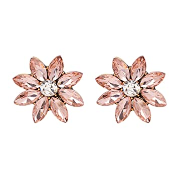 23d256d2c46 Amazon.com  Flower Bomb Stud Women Midnight Shimmer Statement ...