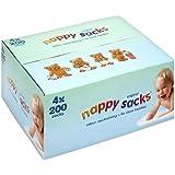 Nappy Sacks Jumbo Box - 4 x 200 pack (800 in total)
