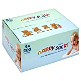 Nappy Sacks Jumbo Box - 4 x 200 pack (800 in total)