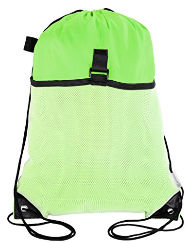 Mato & Hash Drawstring Cinch Bag Backpack With Mesh Pocket Tote Sack For Sale