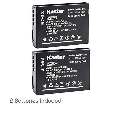Kastar Battery (2-Pack) for Panasonic DMW-BCG10 & Lumix DMC-ZS19 DMC-ZS8 DMC-ZS10 DMC-ZS20 DMC-ZS7 DMC-ZS3 DMC-ZS15 DMC-ZS5 DMC-ZS1 DMC-ZS6 DMC-TZ20 DMC-TZ7 DMC-TZ30 DMC-ZR1 DMC-TZ10 DMC-ZR3 DMC-TZ19