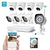 Zmodo 720p HD Digital NVR System 8 Channel Wireless 1.0 Megapixel 4 Outdoor Camera 4 Indoor Camera 500GB Hard Drive Pre-installed Night Vision Motion Detection DIY Kit