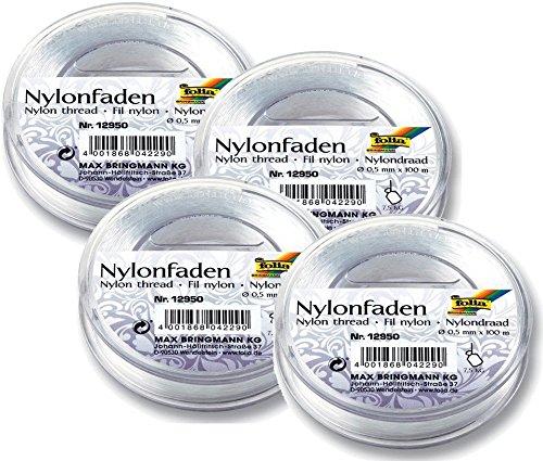 Folia Nylonfaden auf Spule, transparent, 0,50mmx100m, Tragkraft 7,5kg 12950