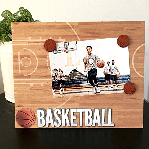 Hardcourt Basketball Sports - Teammate Player Game Coach Dad Team Handmade Gift Present Home Decor Magnetic Picture Frame Size 9 x 11 Holds 5 x 7 Photo
