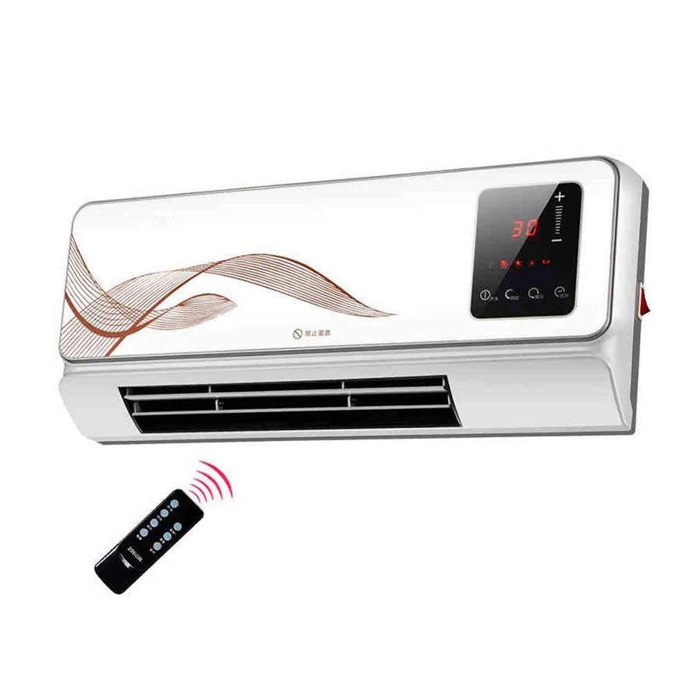 Acquisto DINJUEN Heater Display Digitale riscaldatore a Parete e Telecomando Oro 2000W, Bianco (Colore : Bianca) Prezzi offerte