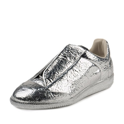 maison-margiela-mens-future-low-foil-metallic-silver-leather-size-41