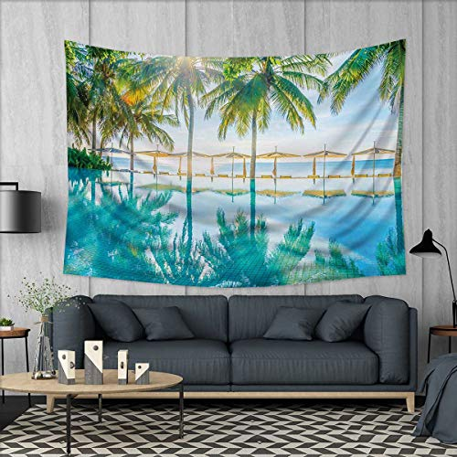 Anhuthree Landscape Wall Hanging Tapestries Pool by The Beac