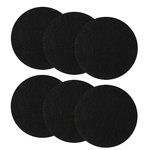 (Resinta 6 Pieces Compost Bin Filters Kitchen Activated Carbon Filters Compost Bin Replacement Filters, 6.25 Inches, Round )