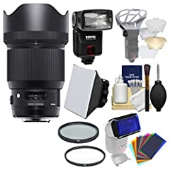 Kit includes:♦ 1) Sigma 85mm f/1.4 ART DG HSM Lens (for Sony Alpha E-Mount Cameras)♦ 2) Sunpak DigiFlash 3000 Electronic Flash Unit (for Canon EOS E-TTL II)♦ 3) Vivitar 86mm UV Glass Filter♦ 4) Vivitar 86mm Circular Polarizer Glass Fil...