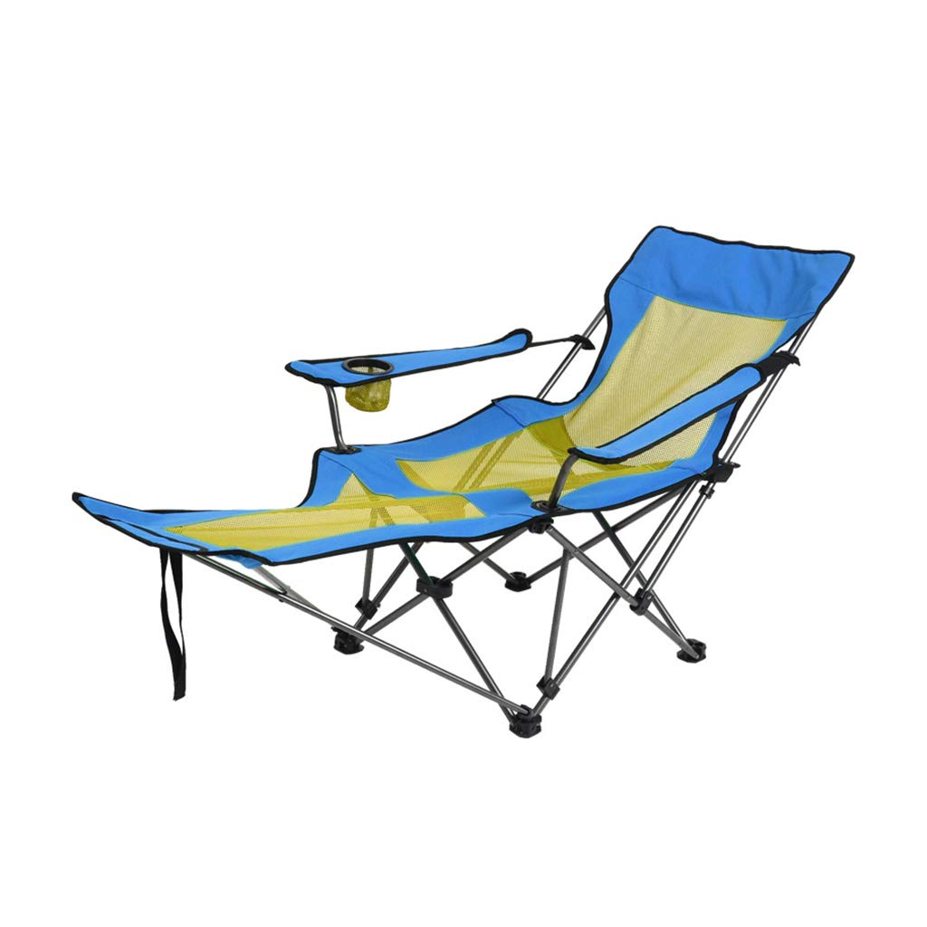 LLRDIAN Outdoor Klappstuhl Siesta tragbare Lounge-Sessel Freizeit Strand Angeln Stuhl Heimbelüftung Einzelbett Stuhl