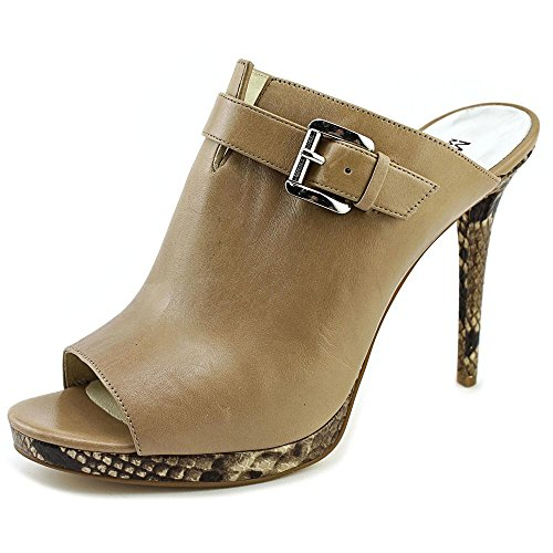 f875514880b delicate Michael Michael Kors Isabella Mule Women US 9.5 Tan Peep Toe Mules