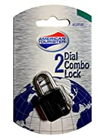 American Tourister 2 Dial Combo Luggage Lock, Black