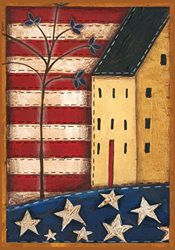 Toland Home Garden Land of the Free 28 x 40 Inch Decorative Rustic  Patriotic Americana House Flag