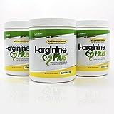 L-Arginine Plus 3-Pack Lemon Lime L-arginine Formula BUY 3 AND SAVE - Blood Pressure, Cholesterol and More Energy Heart Health Supplement (3) (13.4 oz each)