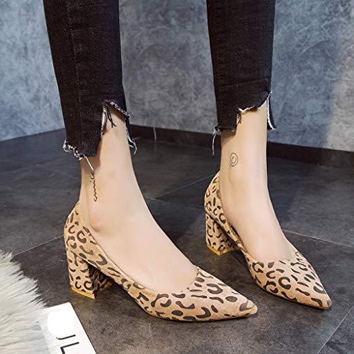 Tacón Caqui De Altura Leopardo 6 Estampado Con 35 Zapato Punta Salón n0wmN8