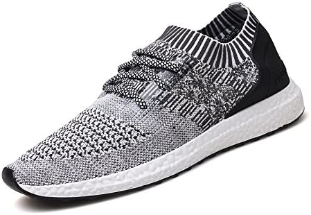 EZUOGO Mens Knit Breathable Casual Sneakers Lightweight Athletic Tennis Walking Running Shoes