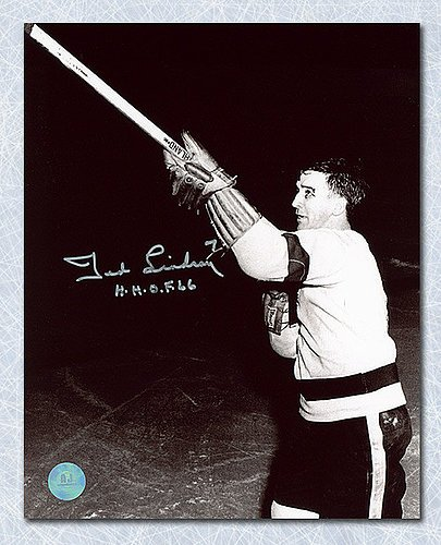 Ted Lindsay Detroit Red Wings Signed Shooting The Stick 8x10 Photo - Autographed Hockey Photos (Autographed Hockey Stick Merchandise)