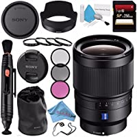 Sony Distagon T FE 35mm f/1.4 ZA Lens SEL35F14Z + 72mm 3 Piece Filter Kit + 72mm Macro Close Up Kit + 256GB SDXC Card + Lens Pen Cleaner + Fibercloth + Lens Capkeeper + Deluxe Cleaning Kit Bundle
