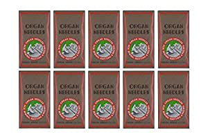 100 ORGAN FLAT SHANK 15X1 HAX1 HOME SEWING MACHINE NEEDLES - SIZE #80/12
