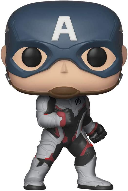 Funko- Pop Bobble: Avengers Endgame: Captain America Marvel Capitán Collectible Figure, Multicolor, Estándar (36661)