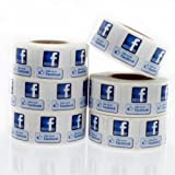"Like Us on Facebook Labels 3/4""x 3/4"" LV-FB1"